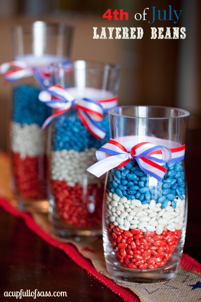 4th of july layered beans home decor