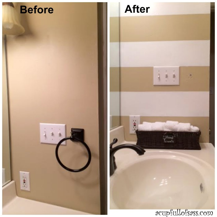 What Kind Of Paint Do I Use In A Bathroom: Guest Bathroom Makeover Part 1 Painting Wall Stripes