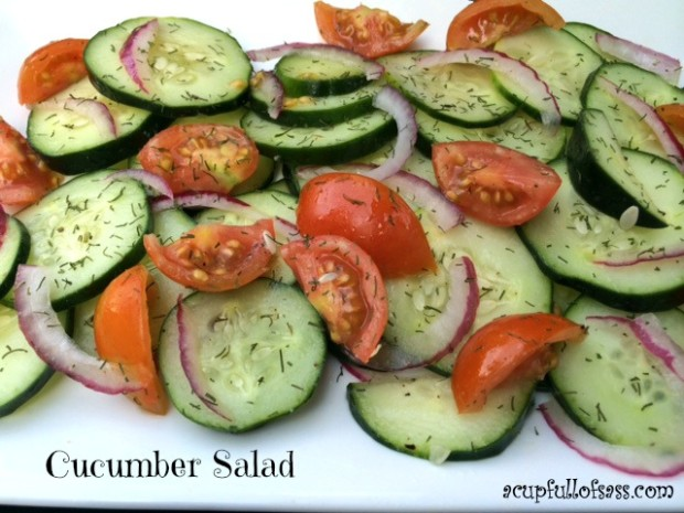 Cucumber Salad - A Cup Full of Sass