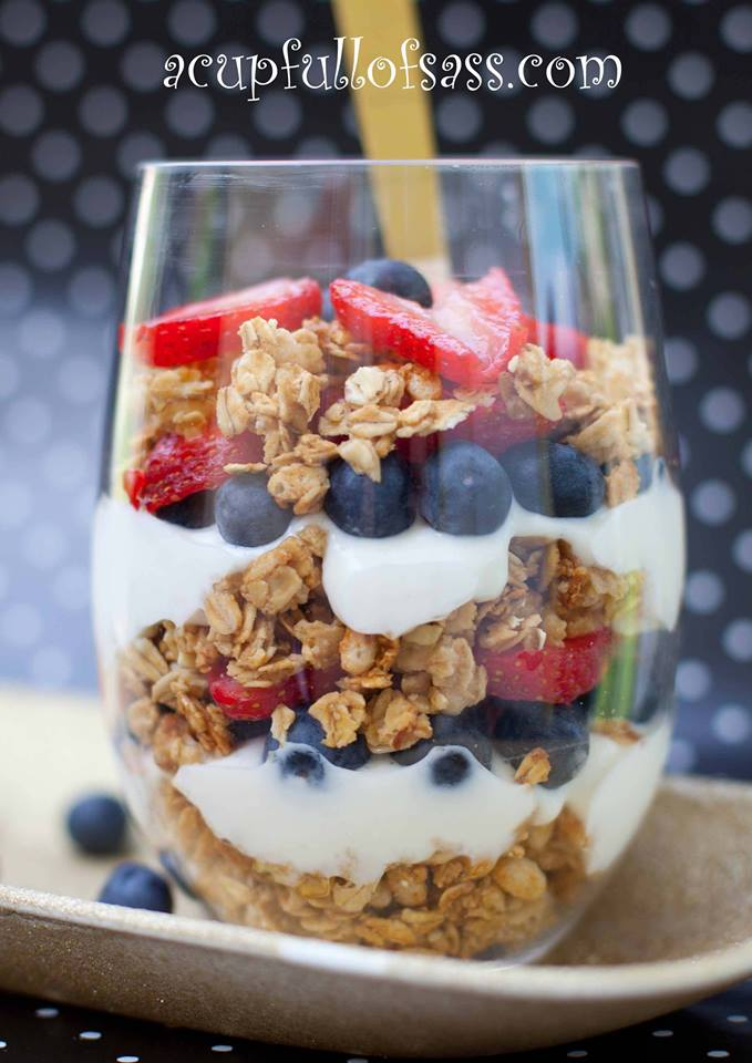 Fruit and Yogurt Parfait - A Cup Full of Sass