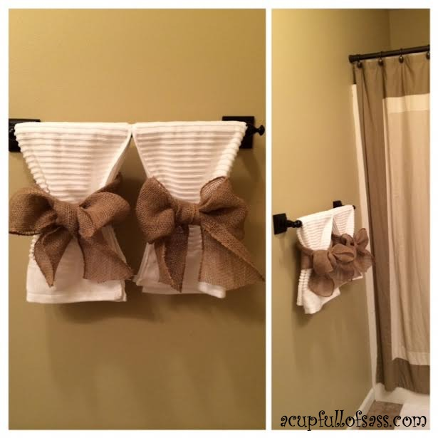 Diy Decorative Bathroom Towels : Guest bathroom makeover part a cup full of sass