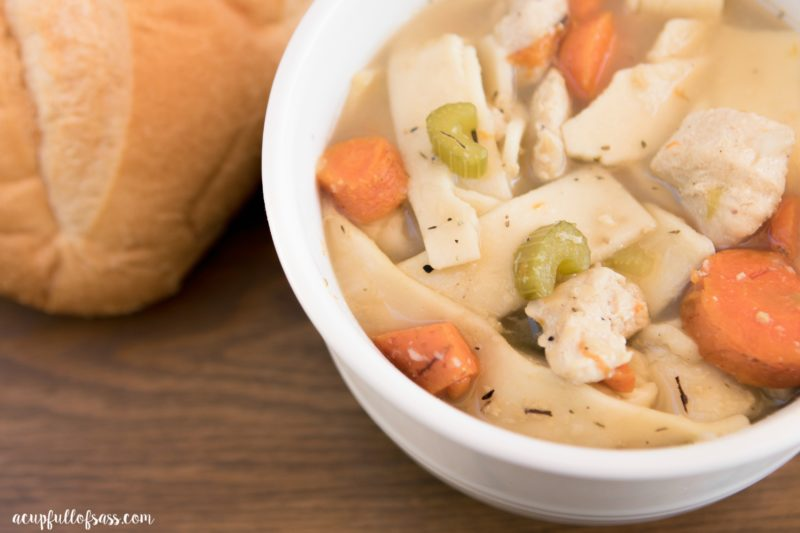 Homemade Chicken Noodle Soup recipe in pressure cooker (instant pot)