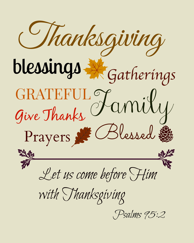 Thanksgiving Printable Bible Quotes Quotesgram