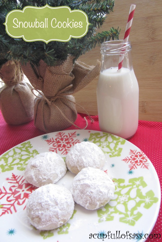Snowball Cookies with title