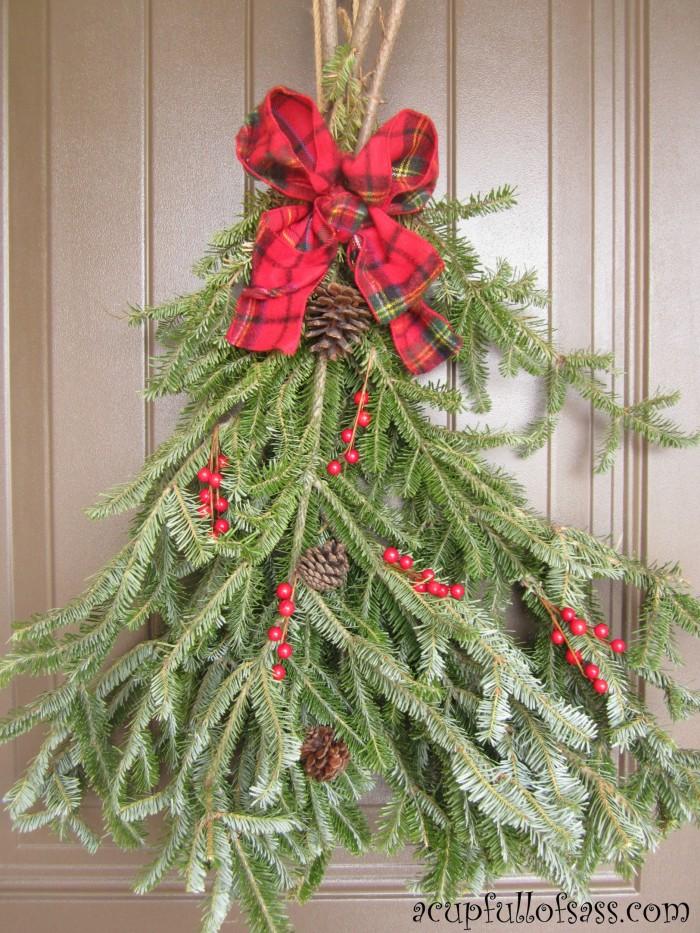 christmas swag & Christmas Door Swag - A Cup Full of Sass