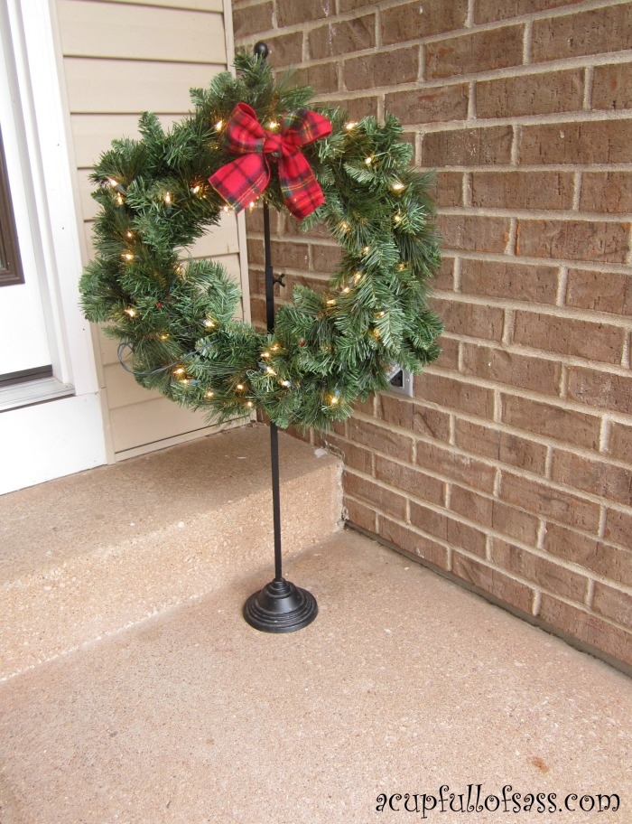 Christmas Front Porch Decorations - A Cup Full of Sass