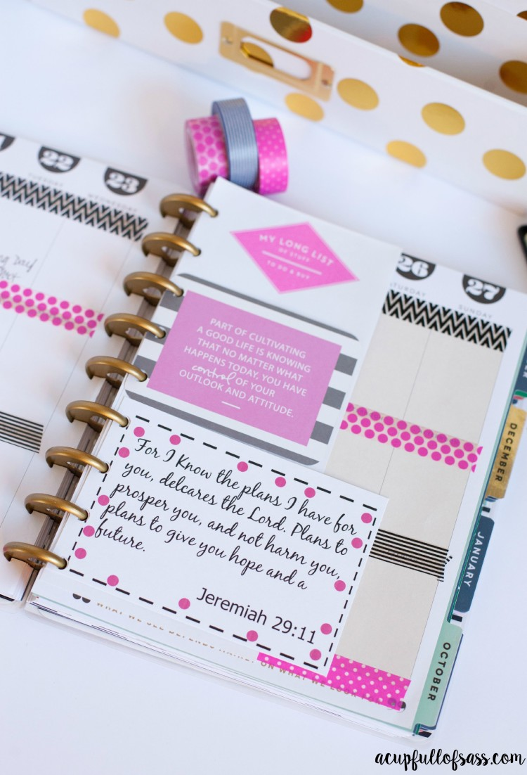 How i decorate my planner with free bible verse printables for Decorated bible