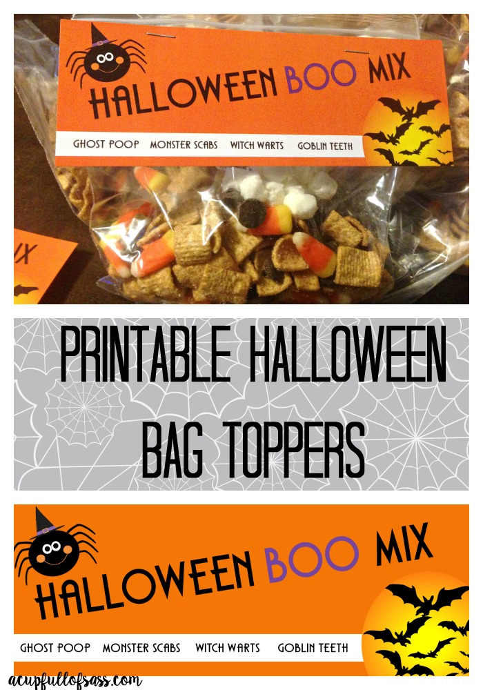 Halloween Printable Treat Bag Toppers