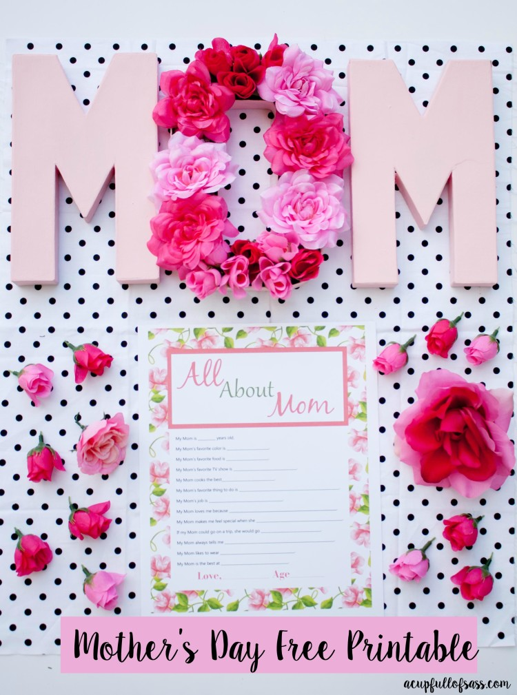 All About Mom Free Printable