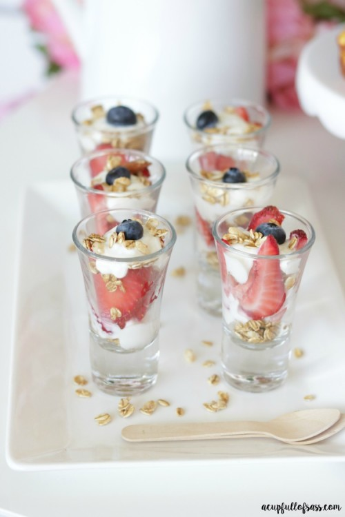 Fruit and Yogurt Parfait Shooters