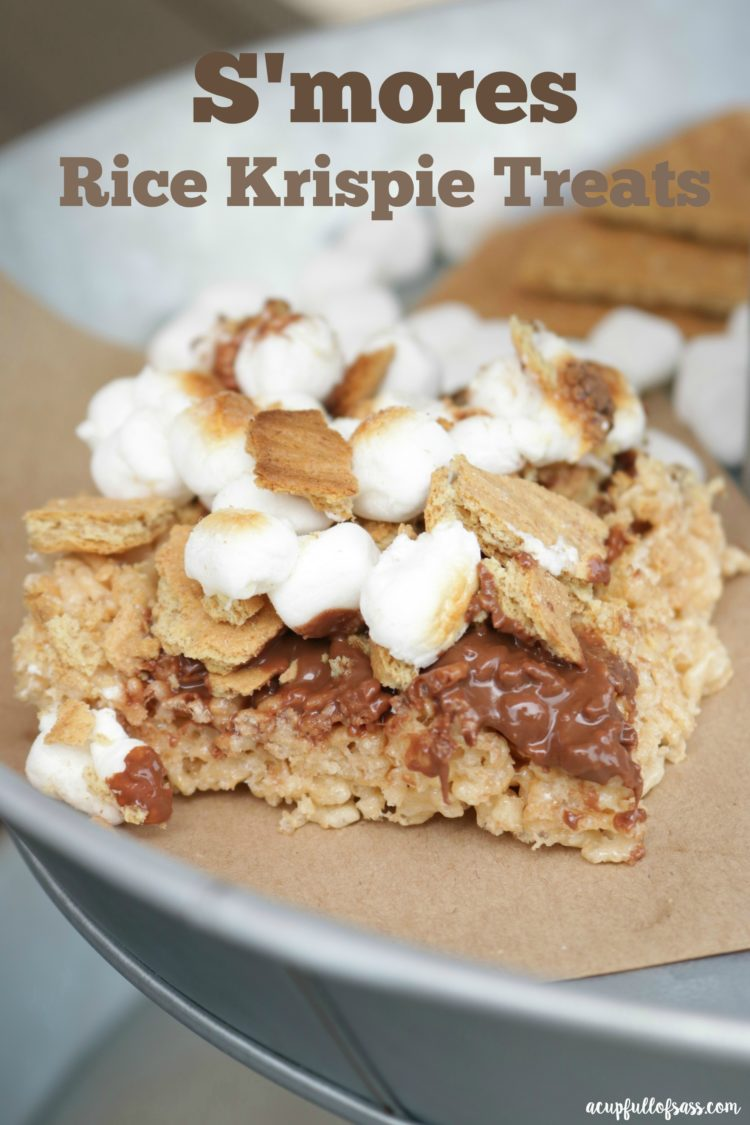 mores Rice Krispie Treats - A Cup Full of Sass