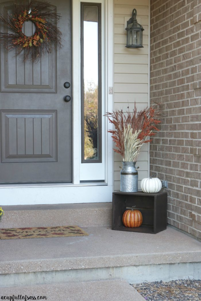 Fall porch decor ideas a cup full of sass - Fall front porch ideas ...