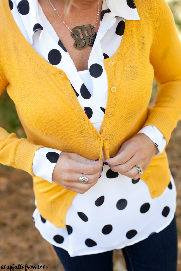 Fall outfit ideas a cup full of sass for Mustard colored costume jewelry