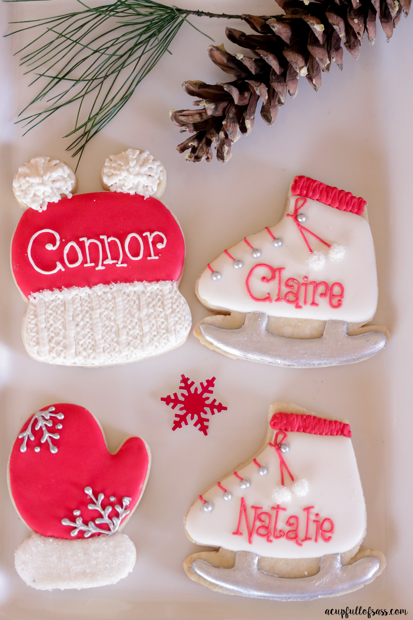 Ice Skating Cookies Mitten Cookies