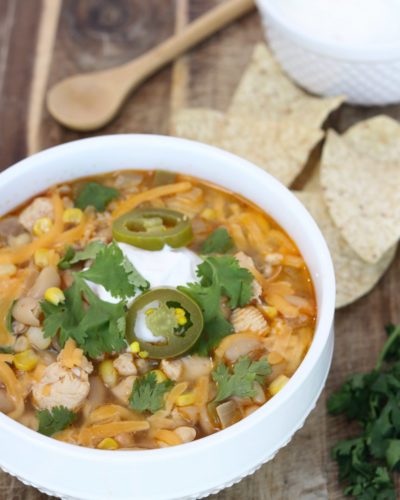 Healthy White Chicken Chili in Pressure Cooker