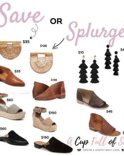 Save vs. Splurge | Shoes and accessories