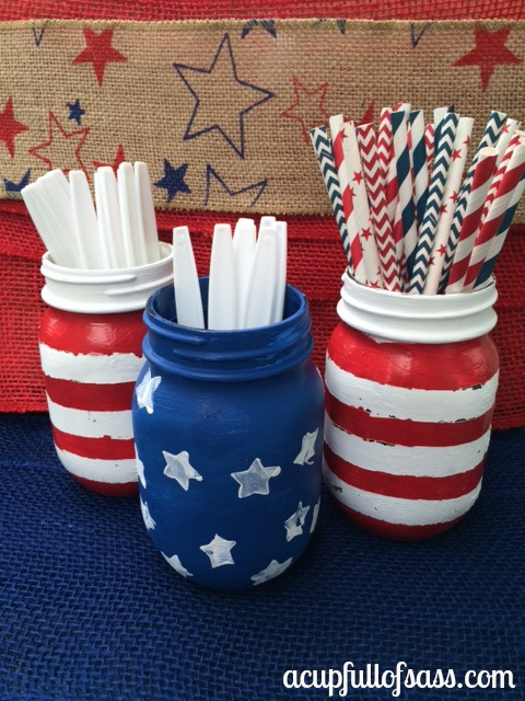 4th of July DIY Mason Jars