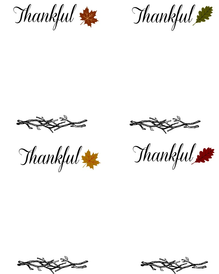 Thankful Printables for blog