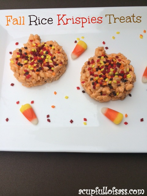fall rice krispies