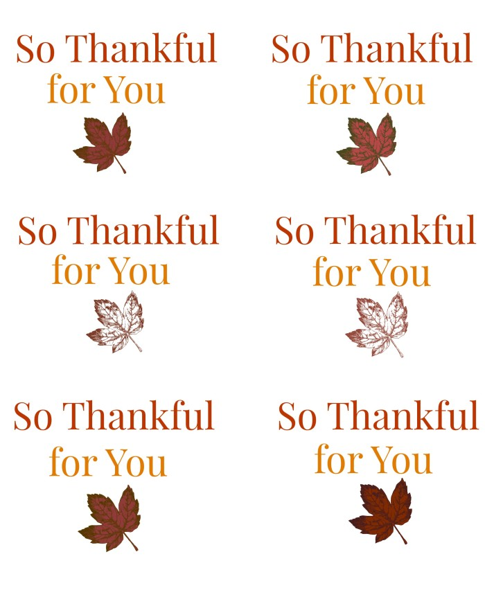 Thanksgiving Gift Tags Printable A Cup Full Of Sass