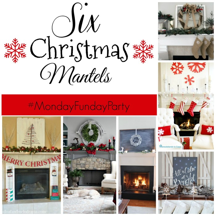 Collage 6 Christmas mantels