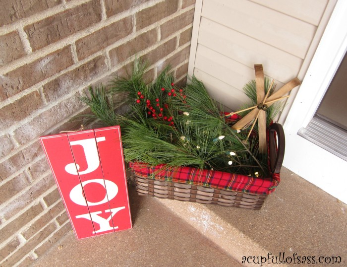 front porch basket - Christmas Basket Decorations