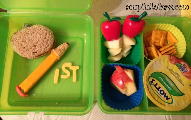Bento Lunch First day of School