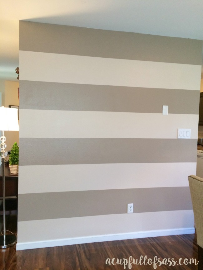 DIY How to Paint Wall Stripes. Before and After.