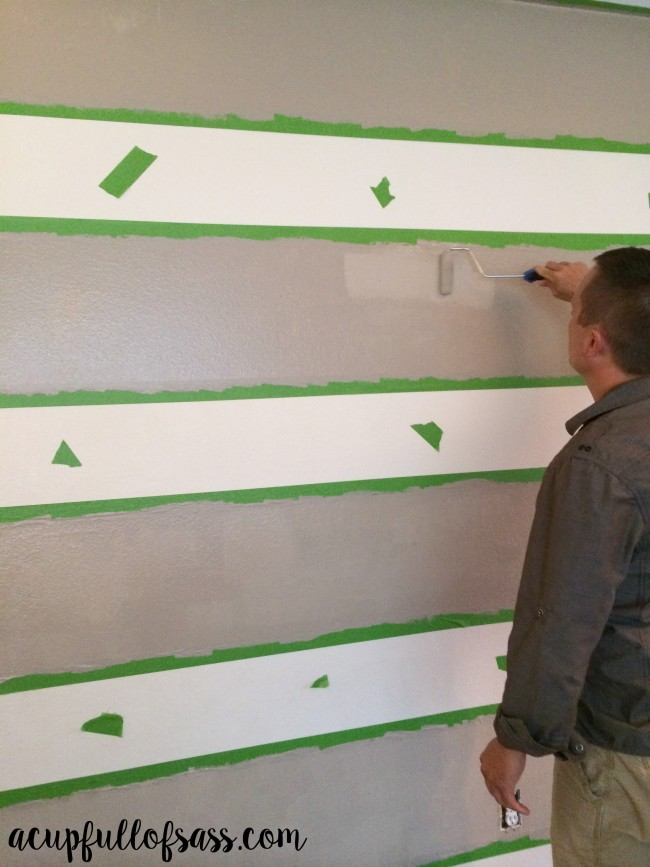 DIY How to Paint Stripes on a Wall - Dessert Fortress - Lyndhurst Timber