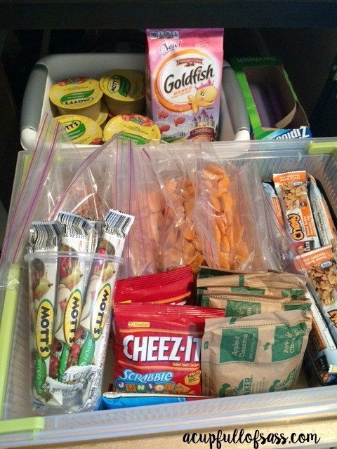 Snack Drawer for Kids