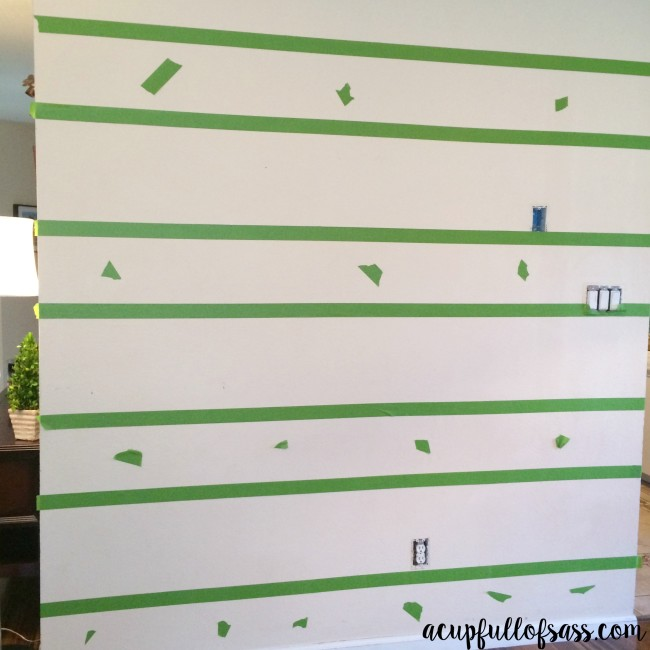 How to paint wall stripes DIY. Before and After.