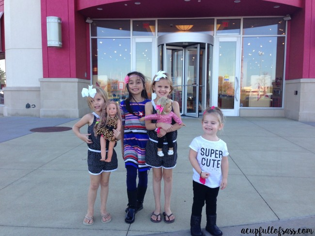 American Girl Doll Birthday Party Group