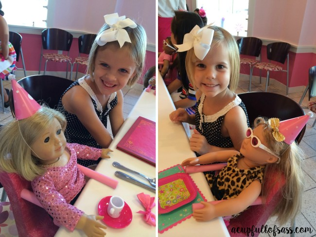 American Girl Doll Birthday Party lunch
