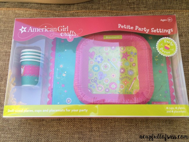 American Girl Doll Party plates