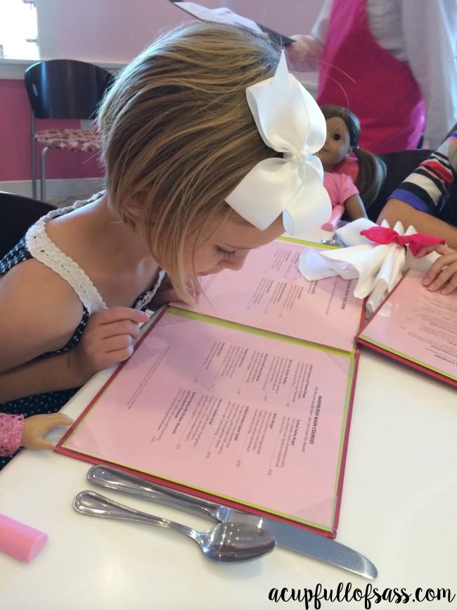 American Girl Doll lunch