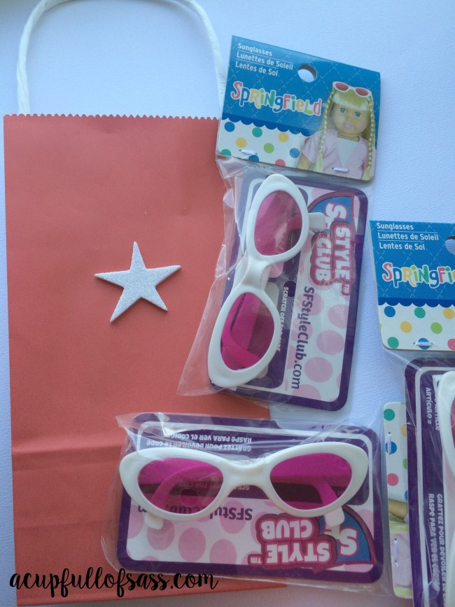 American girl party treat bags