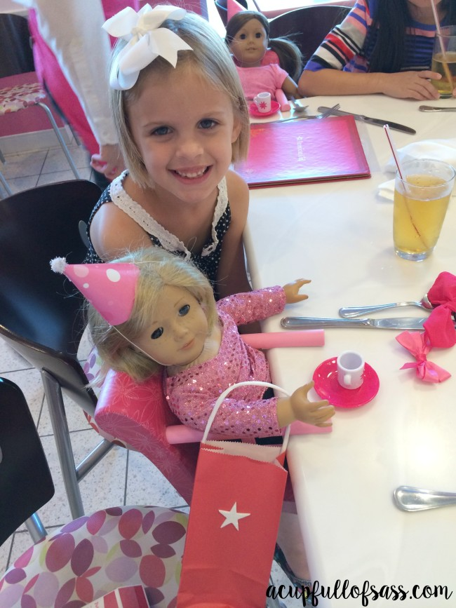 american girl doll party lunch