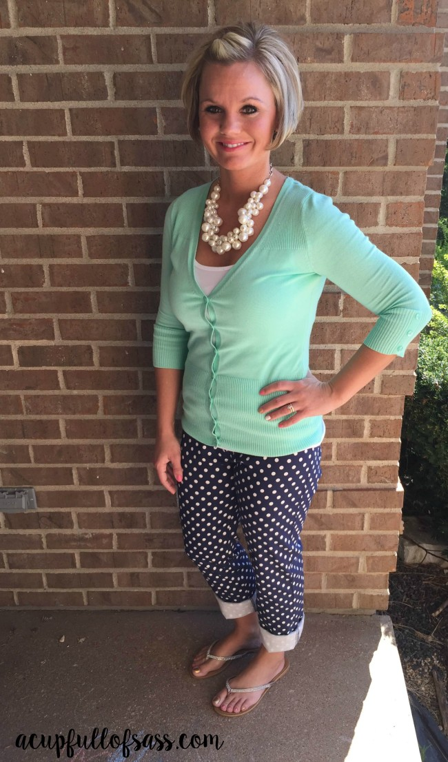 polka dot outfit for spring