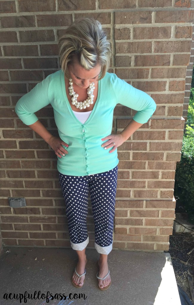 polka dot outfit pants