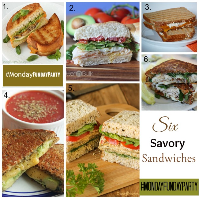six sandwiches Collage
