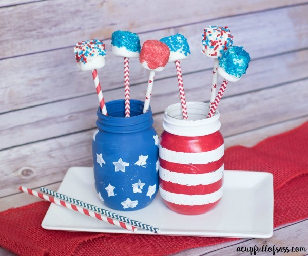Marshmallow Pops July 4th