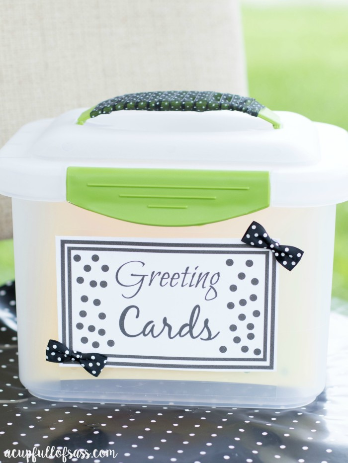 Greeting card organizer a cup full of sass greeting cards box m4hsunfo