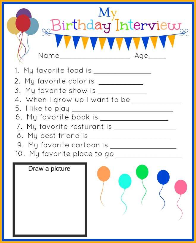 my bday interview printable boy