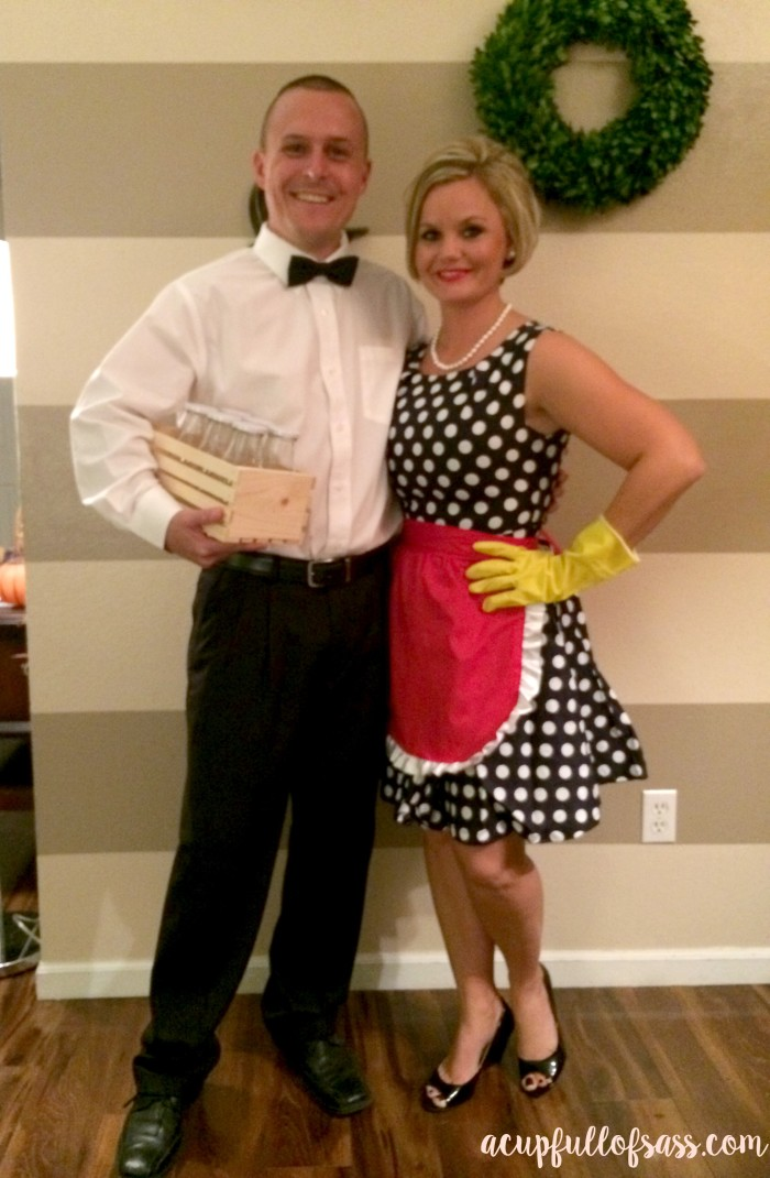 50's housewife and milk man costumes