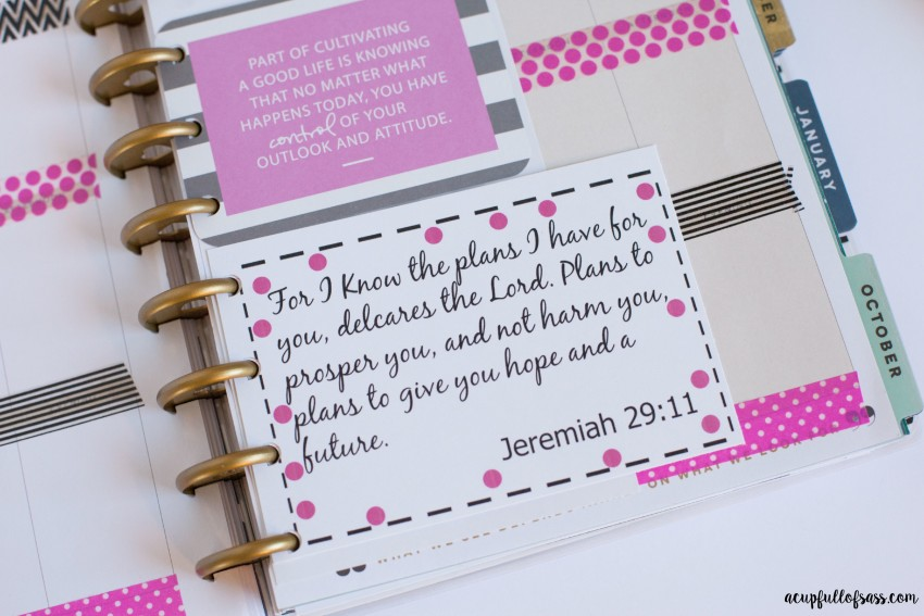 Bible Verse Printable for planner
