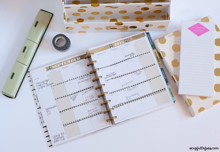 Washi tape for decorating planner