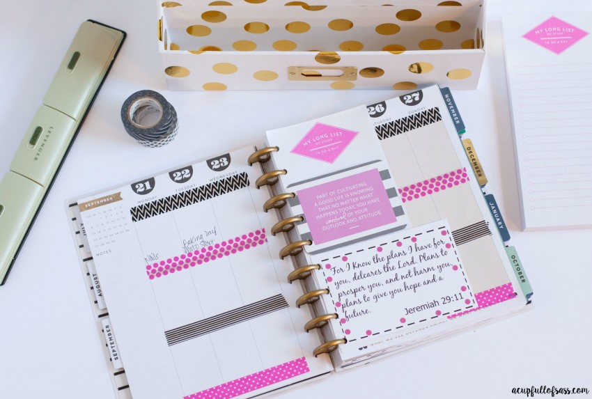 How I decorate my Planner with Free Bible Verse Printables