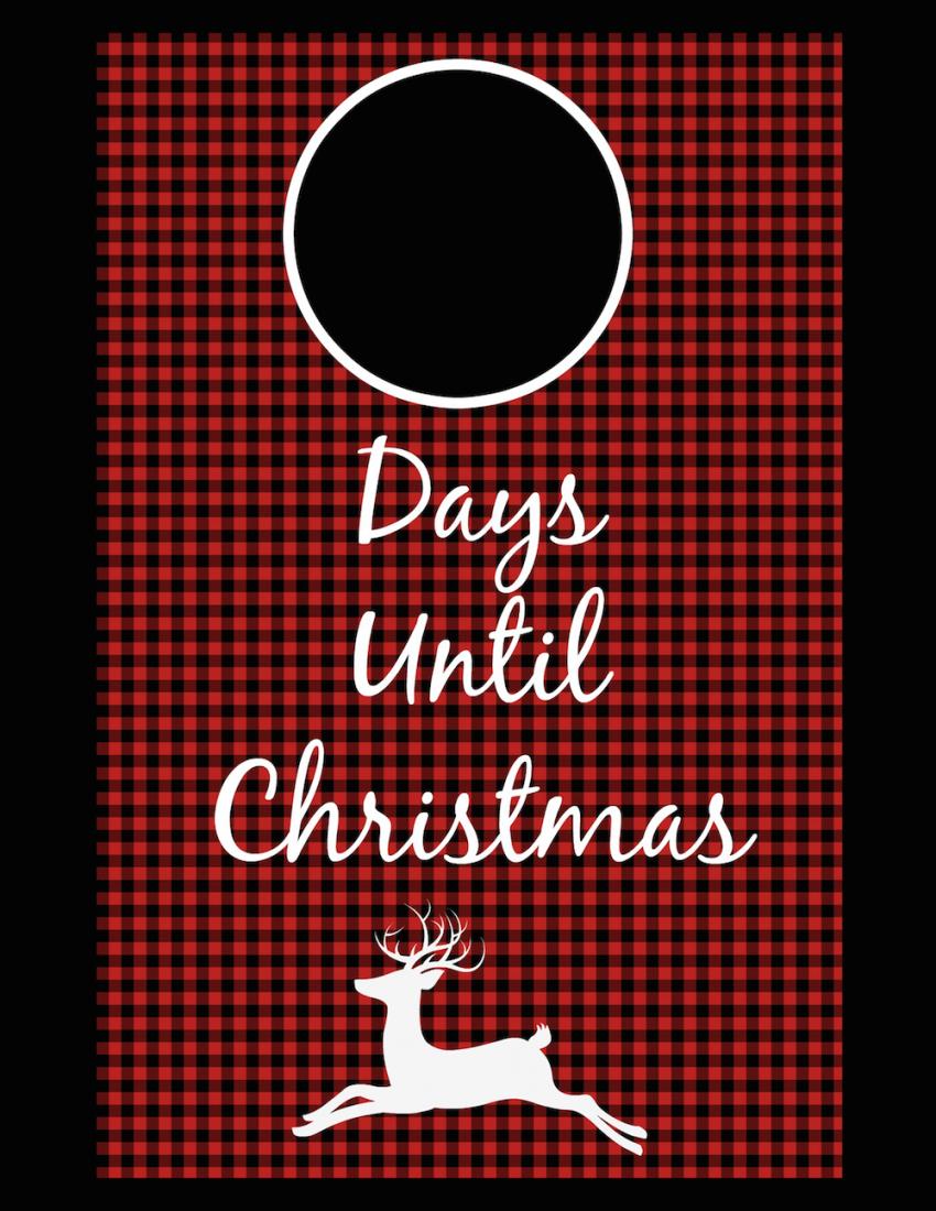 Days Until Christmas Printable.Plaid Printable Days Until Christmas A Cup Full Of Sass