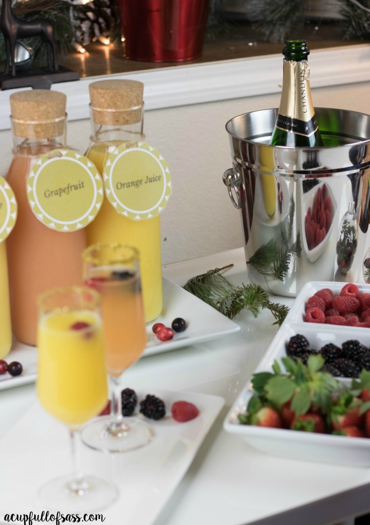 mimosa bar brunch