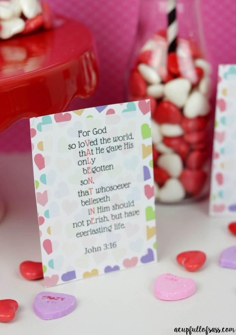 John 3:16 Bible Verse Valentine's Day Scripture Cards